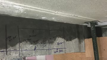 Failed Concrete Beam Repair
